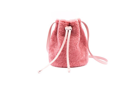 Primecut Pink Shearling Bucket Bag