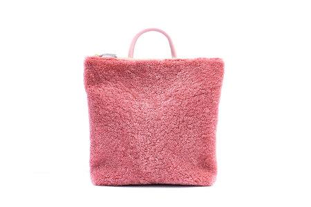 Primecut Shearling Backpack - Pink