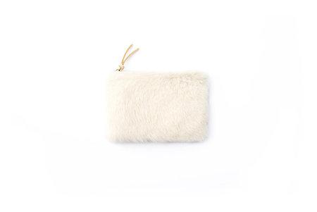 Primecut Ivory Sheepskin Zipper Wallet