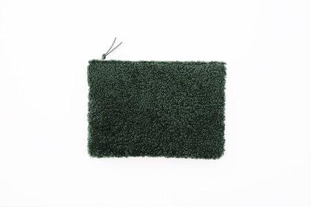 Primecut Green Sheepskin Clutch