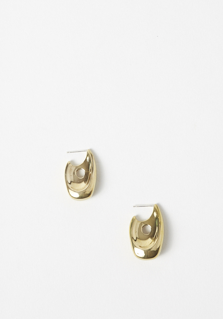 Leigh Miller Illusion Hoops - Brass