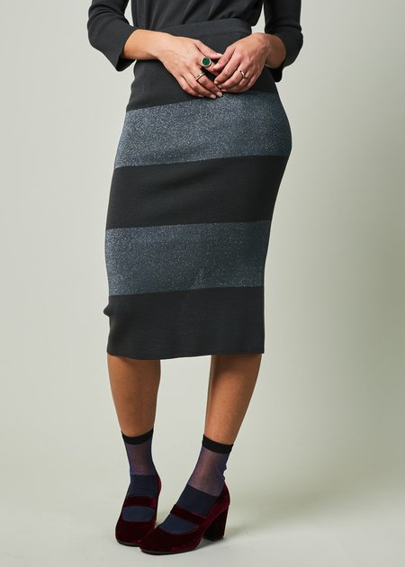 Sartoria Vico Lurex Stripe Pencil Skirt