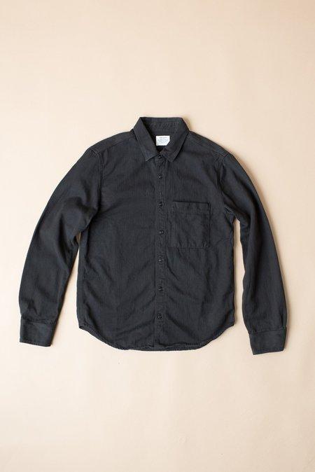 Unisex Homework Herringbone Overshirt In Slate