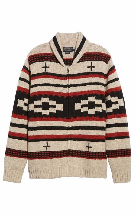 Pendleton Zip Shawl Collar Cardigan