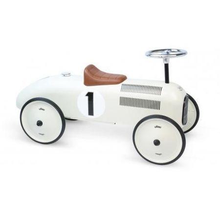 Vilac Ride-On Racing Car in Vintage White