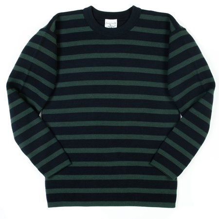 S.N.S. Herning Given Crew Neck - Royal Navy/Safe Green