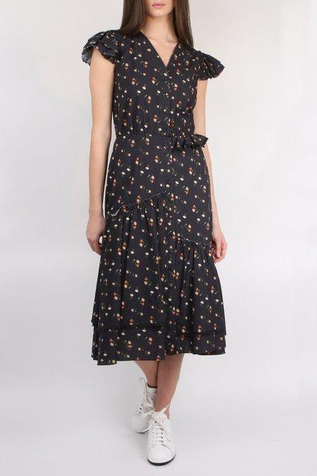 Sea NY Asymmetrical Maxi Dress