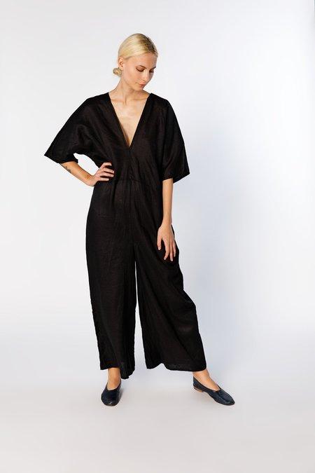 Miranda Bennett Muse Jumpsuit, Linen in Black