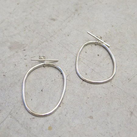 Another Feather Sterling Silver Ovale Earrings