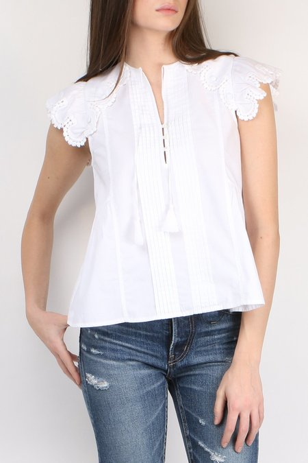Sea NY Flutter Sleeve Button Tank