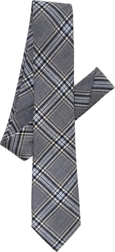 David Hart Silk & Wool Glenn Plaid Tie