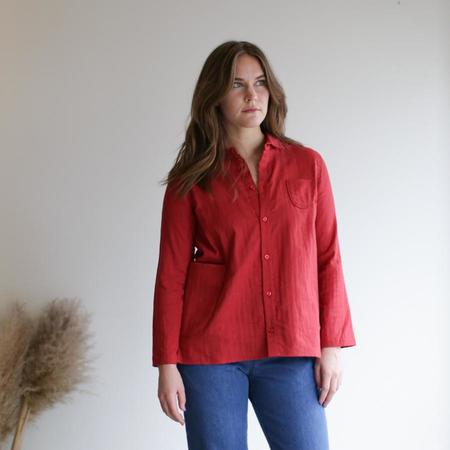 wrk-shp Atelier Shirt - Chili Red