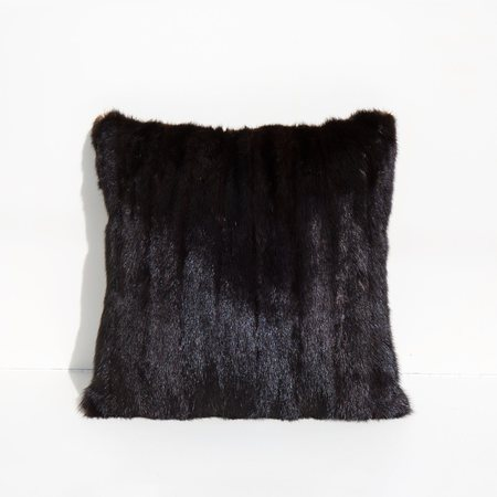 Found By Kindred Black Recycled Mink and Velvet Pillow