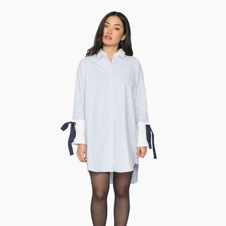 Orimono Alice Shirt Dress - Light Blue