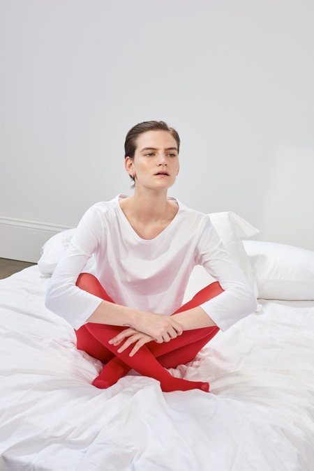 Kowtow Building Block Boat Neck Top - White