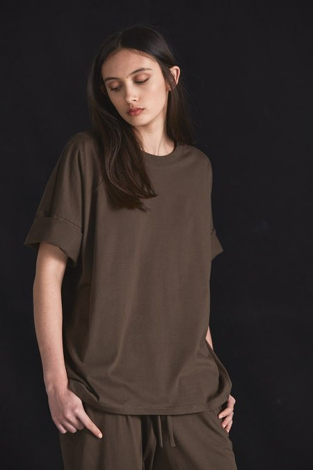 Kowtow Building Block Tall Tee - Moss