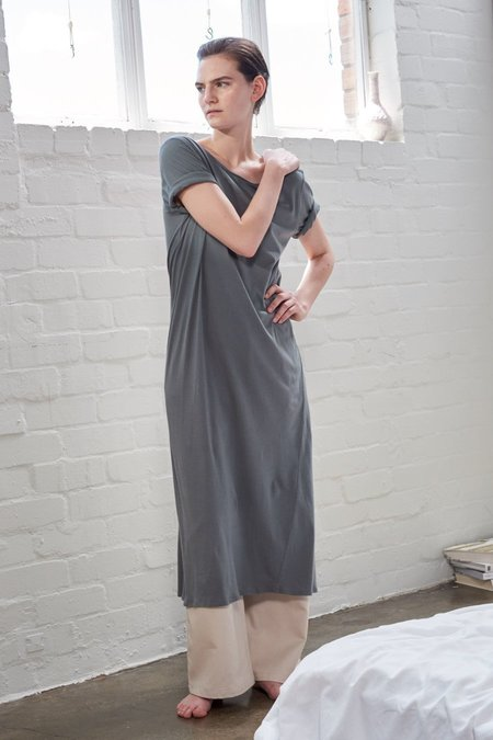 Kowtow Building Block Tee Shirt Dress - Dove Grey