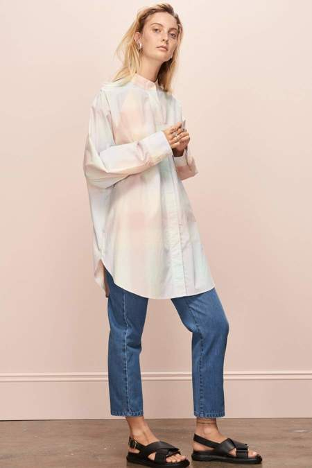 Kowtow Just Love Shirt - Pastel Check