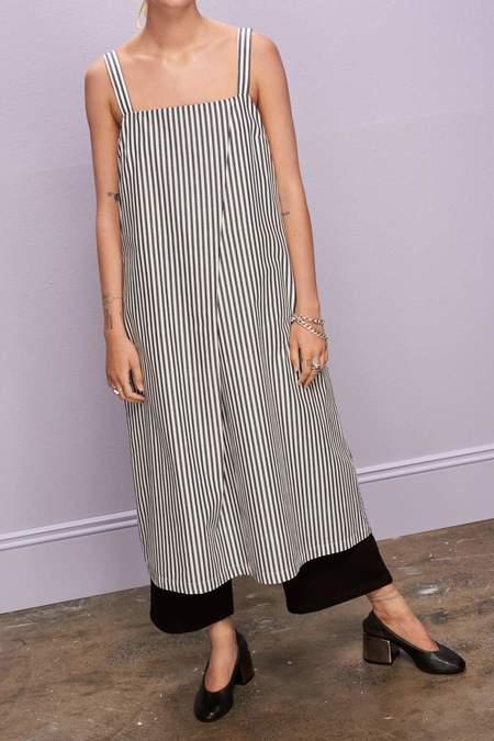 Kowtow Shadow Dress - Navy/White Stripe