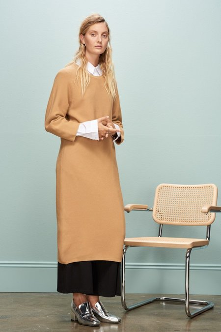 Kowtow Slow Pace Dress - Tan