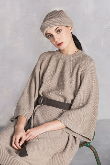 Kowtow Voyage Cape Dress - Oatmeal