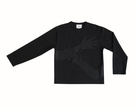 THE LOVABLES HUG ME SWEATER - black