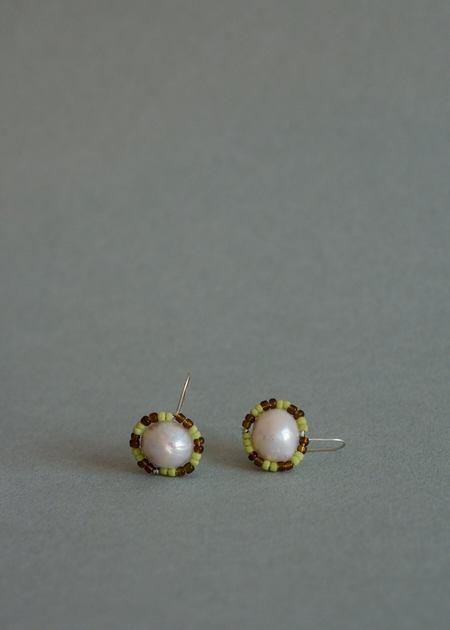 Zelda Murray Pearl Earrings - Rootbeer + Lime