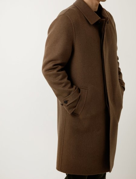 Niuhans Double Face Chesterfield Coat - Brown