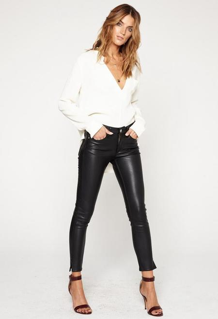 Mcguire Newton Skinny Jean - Black Faux Calfskin