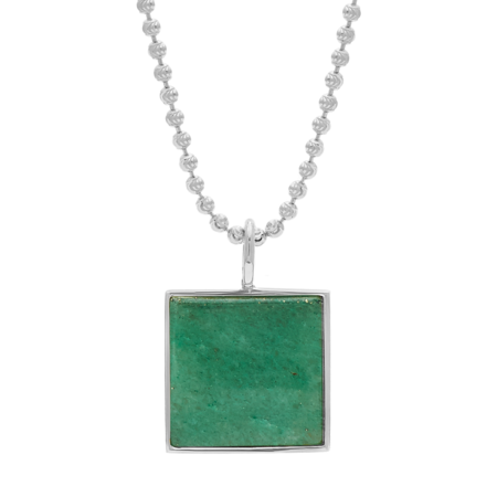 Unisex Tarin Thomas Samuel Necklace - Aventurine