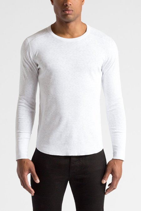 Wings + Horns 1x1 Slub Knit Long Sleeve - White