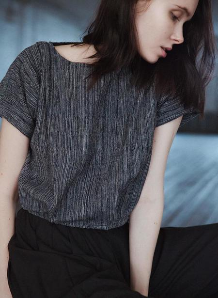 Seek Collective Maggie Top - Indigo Twist Weave