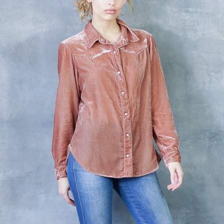 Xirena Vintage Velvet Carrington Shirt
