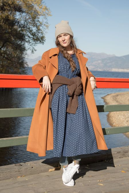 Achro Cashmere Blend Handmade Coat in Burst Orange