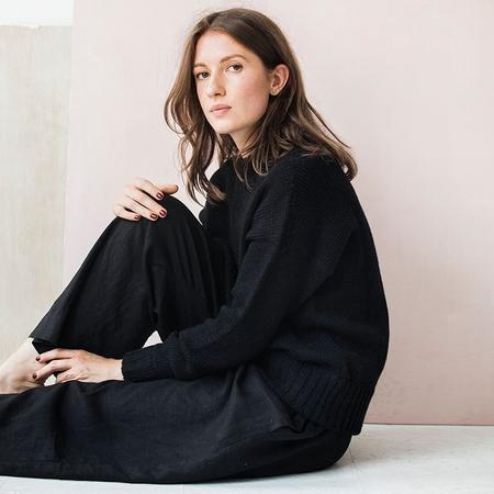 Bare Knitwear Vintage Crew - black
