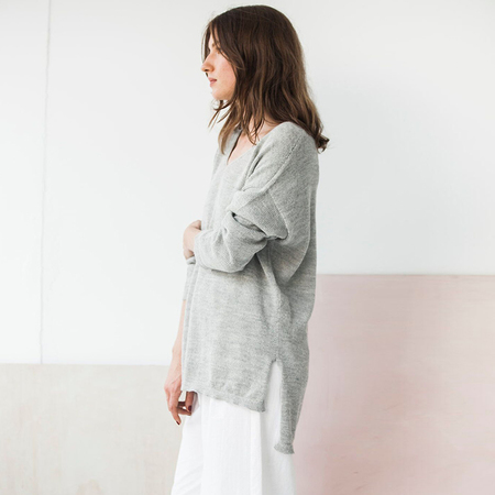 Bare Knitwear Everday V - light grey