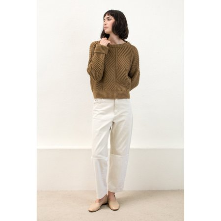 Micaela Greg Bevel Sweater in Caramel
