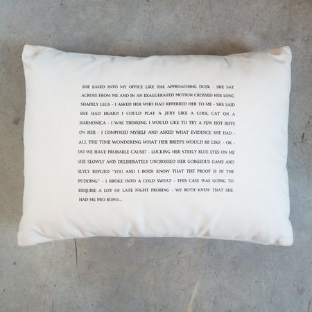 Pulpoetry Attorney Pillow by Barbara Hill