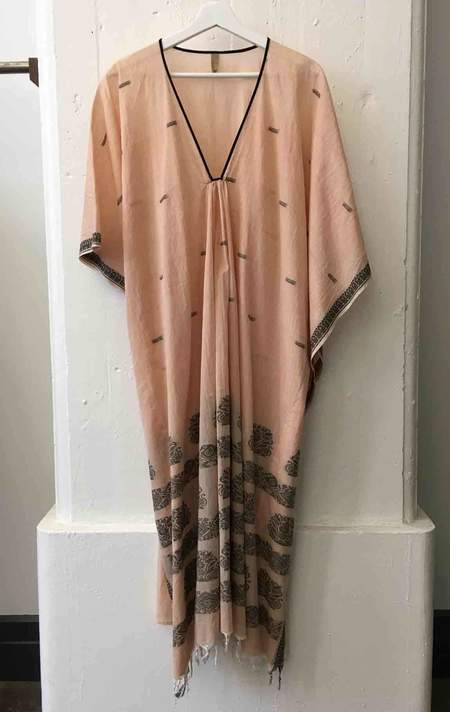 Two Peach with Black Pattern Caftan