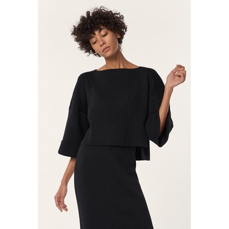 Mara Hoffman Eva Sweater in Black