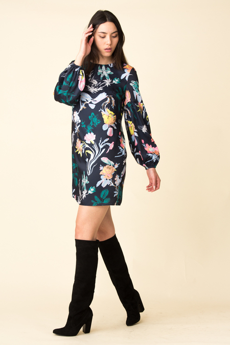 Tibi Bell Sleeve Dress - Gothic Floral