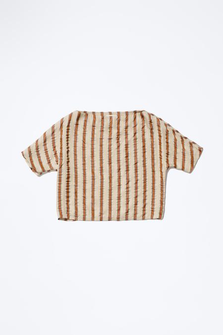 Samuji LIONA TOP in Beige Brown Copper Stripe