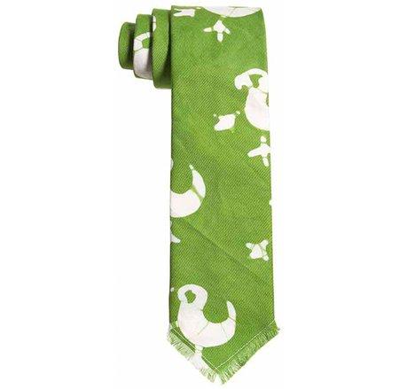 Post-Imperial Adire Fowl Pattern Tie