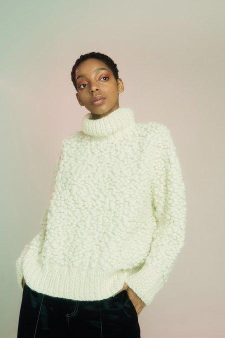 Edun Popcorn Alpaca Handknit Sweater