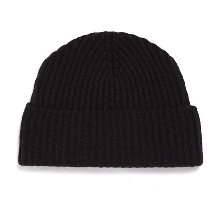 Unis Lambswool Knit Hat - Black