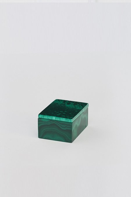 Kathleen Whitaker Extra Small Malachite Gem Box