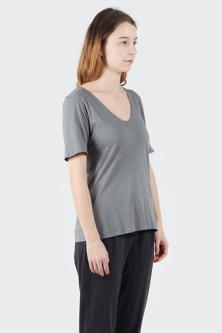 Kowtow Building Block V T-Shirt - Dove Grey