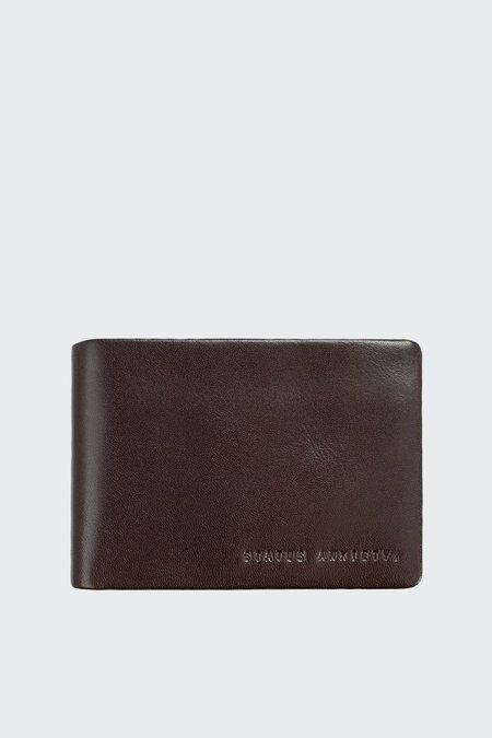 Status Anxiety Jonah Wallet - chocolate