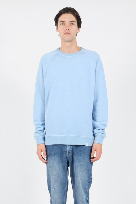 Norse Projects Ketel Double Face Crew Sweater - sky blue