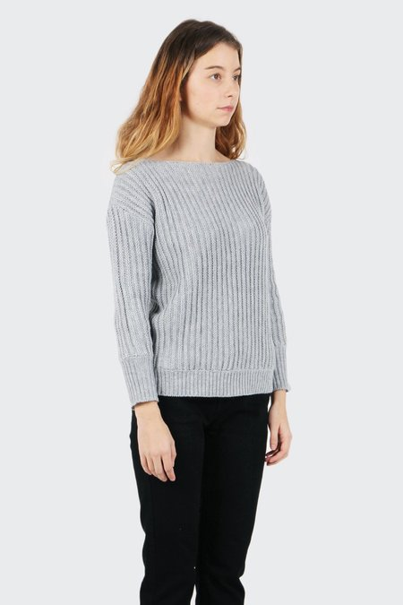 The Fifth Off Duty Knit Sweater - grey marle